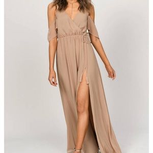 Beige Goddess Maxi Dress